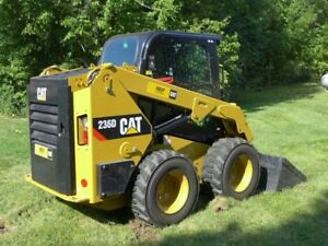 2015 Caterpillar 236 D Skid Steer Cab A c 300hrs Lightly Used