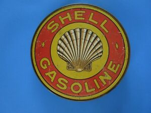Tin Metal Gasoline Service Station Man Cave Advertising Decor Gas Oil Shell Clam