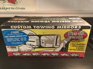 Cipa Custom Towing Mirrors 10200 Gmc chevy Suburban yukon Safari astro New