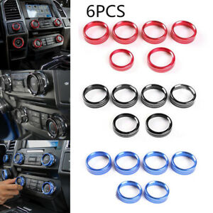 For Ford F150 2016 2018 Air Conditioner Audio Switch Decor Ring Cover Trim Blue