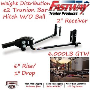 92 00 0600 Fastway Trailer E2 Trunnion Bar Weight Distribution Hitch 6000lb Gtw