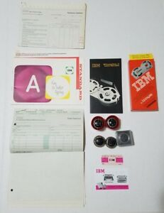 Lot Of 5 Assorted Ibm Selectric Typewriter Balls And Vintage Maintenance Papers
