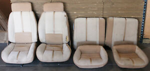 1982 1992 Camaro Iroc z Z28 Rs Tan Cloth Manual Seats Front Rear Used