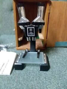 Vintage Fisher Stereo Microscope