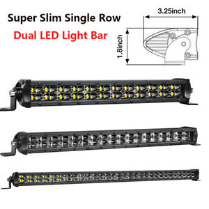 14 20 30 Inch Single Row Led Light Bar Combo Driving Fog Lamp 4wd Ford Boat Slim