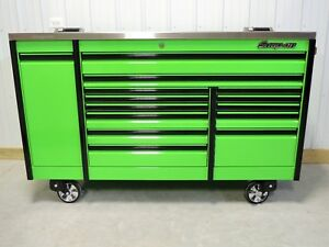 Snap On Extreme Green 76 Epiq Tool Box Toolbox Stainless Steel Top
