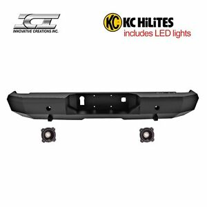 Rbm99chn Kc Magnum Off Road Rear Bumpers With Kc Hilites Led Reverse Lights Ici