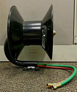Hose Reel 100 Ft Manual Oxyacetylene For Twin Welding Hose New