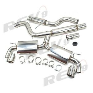 Rev9 Stainless Catback Muffler Exhaust For 15 17 Vw Golf Gti 2 0l Turbo Mk7 3