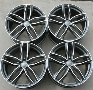 Set 4 19 19x8 5 5x112 Et35 Wheels Audi A3 A4 A6 Jetta Passat Golf Gti Rs S4