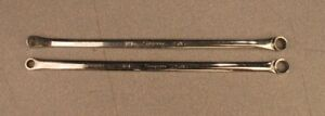 2 Pc Snap On 1 4 5 16 12 point Sae Flank High Performance Offset Wrench Set
