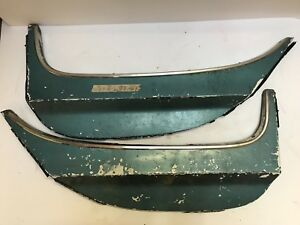 Oem Ford 1964 1965 1966 Thunderbird Fender Skirts Pair T Bird With Trim
