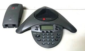 Polycom Vtx 1000 Soundstation 2201 07142 601 Conference Phone With Power Supply
