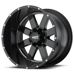20 Inch Black Rims Wheels Gmc Sierra 1500 Truck Yukon Moto Metal Mo962 20x10 New