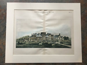 House Seabright Nj 1899 R H Robertson Original Hand Colored