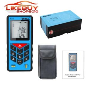 Tuirel Handheld 100m 328ft 3937inch Laser Distance Meter Range Finder Measure