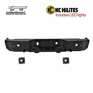 Rbm79chn Kc Magnum Off Road Rear Bumpers With Kc Hilites Led Reverse Lights Ici