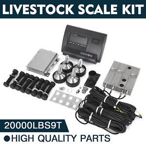 20000lbs Livestock Scale Kit For Animals Waterproof Floor Scale Animal Weighing