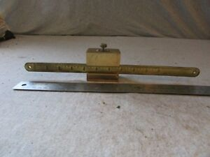 Vtg Early Antique Scale Brass Beam Part W Slide Weight Sliding 10 Lb Dr Medical