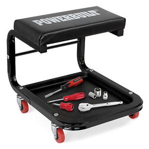 Powerbuilt Rolling Mechanics Shop Heavy Duty Seat 641170