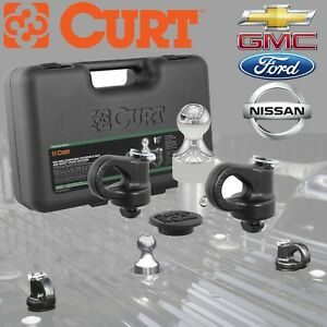 60692 Curt 2 5 16 Gooseneck Ball Safety Chain Kit For Oem Puck System