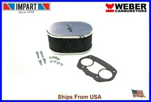 Weber Redline Air Filter Kit 40 44 48 Idf 3 1 4 Oval Chrome 99217 347