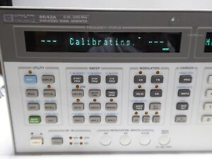 Hp 8643a Synthesized Signal Generator Opt s 002 003 H05 0 26 2060 Mhz