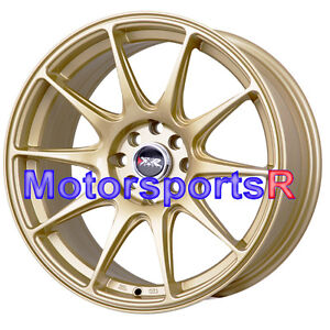 Xxr 527 Gold Wheels 17 X 7 5 40 Rims 4x108 Fin Type Concave 04 Ford Focus Svt