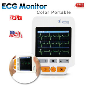 Heal Force Portable Handheld Color Ecg Ekg Heart Monitor W Lead Wire