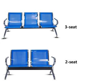 Heavy Duty Office Airport Waiting Chair Reception Salon Barber Bench 2 Style