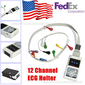 Usa Portable 12 Channel 24h Ecg Holter Analyzer System Recorder Monitor software