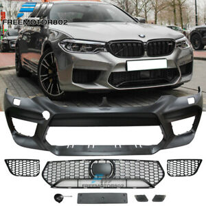 Fits 17 19 Bmw G30 5 Series M5 Style Front Bumper Cover Replacement W Grille