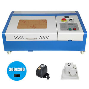 40w Usb Co2 Laser Engraving Cutting Machine Engraver Cutter With 4 Wheels Used