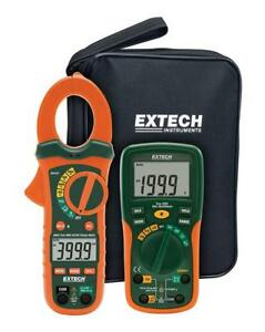Extech Etk35 Electrical Test Kit With True Rms Ac dc Clamp Meter