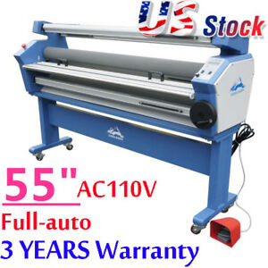 Usa Stock 55 Upgraded Full auto Heat Assisted Wide Format Cold Laminator