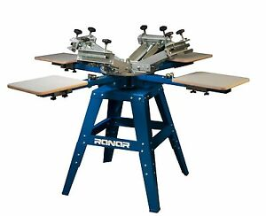 Screen Prinitng Press 4 Color 4 Station silk Screen Printing Press