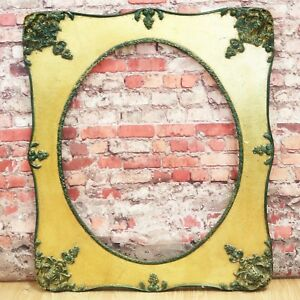 Large Vtg Ornate Wood Picture Frame 25 5 X 30 Victorian Style Oval