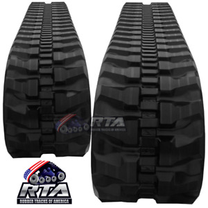 Two Rubber Tracks Fits John Deere 35d 35 Zts 35zts 35c 300x52 5x86 Free Shipping