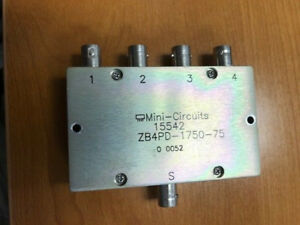 Mini circuits 15542 Zb4pd 1750 75 Splitter