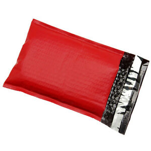 200 2 Red Poly Bubble Mailers Envelopes Padded Mailer Shipping Bags 8 5x12