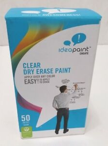 Idea Paint Clear Dry Erase Paint Kit 50 Sq Ft Write On Wall Over Any Color
