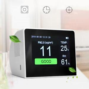 Home Lcd Gas Analyzer Laser Pm2 5 tvoc hcho co2 Detector Hygrometer Thermometer