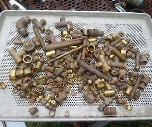 Lot Of Brass Fittings New And Used