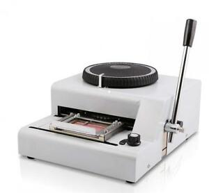 Shzond Embossing Machine 72 Characters Card Embosser Printer Gift Credit Id