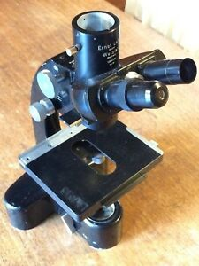 Leitz Laborlux ortholux Vintage Microscope With Trinocular Head For Parts