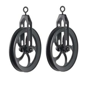 Rustic State Vintage Industrial Look Medium Wheel Farm Pulley For Custom