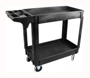 Maxworks Industrial Polypropylene Two tray Cart 30 x16 80855