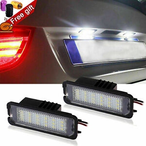 Error Free Led White License Plate Light For Macan Panamera Boxster Cayman 911