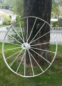 Large 55 Antique Iron Wagon Wheel