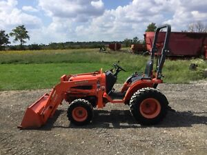 2006 Kubota B7610 Tractor La352 Front Loader 4wd Hydro 756 Hours